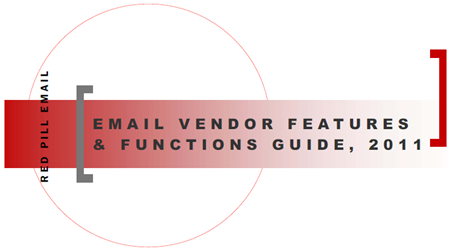 Red Pill Email: 2011 Email Vendor Guide