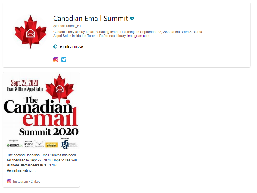 Bing Page image for Canadian Email Summit