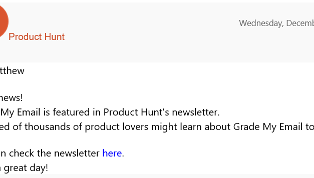 Announcing Grade My Email